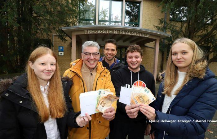 Spendenübergabe der Freiherr-vom-Stein-Realschule Bergkamen